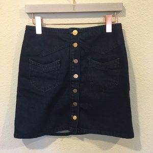 ASOS Skirts - ASOS Denim button front a-line mini skirt